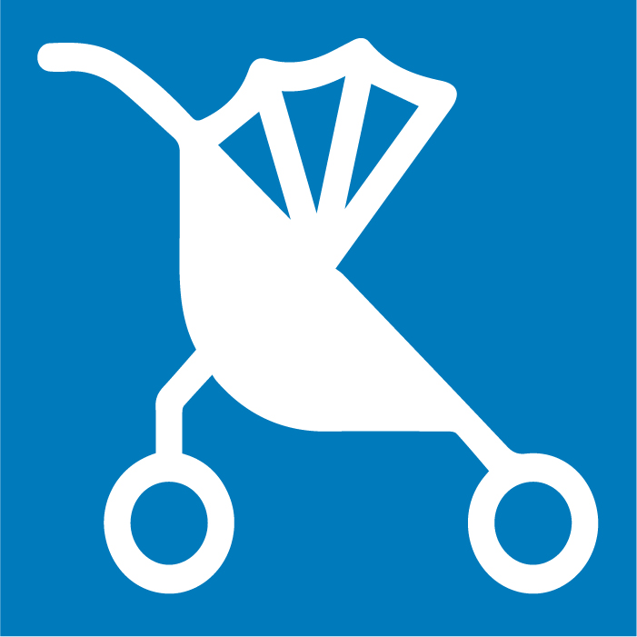 Stroller parking is available